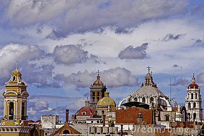 Towers and domes of puebla