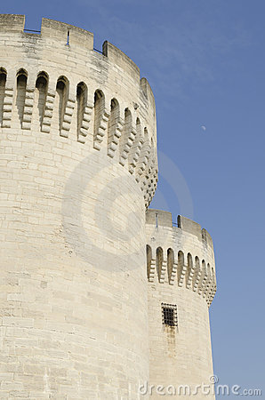 Towers of medieval castle