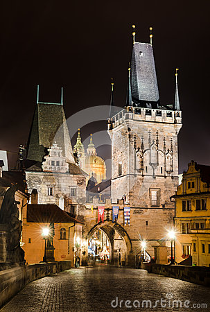 Free Towers Of Mala Strana, On Charles Bridge, Prague Royalty Free Stock Photo - 27530105