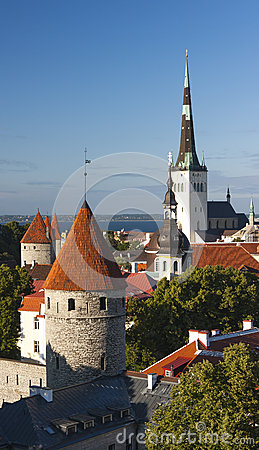 Towers of the Old Town of Tallinn, Estonia