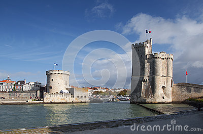 Towers of the port of La Rochelle, France