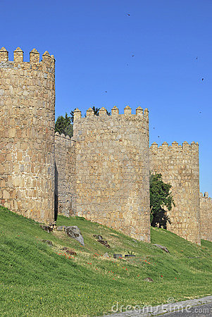 Towers of the wall of Avila