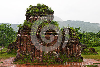 Towers were built by the Cham civilization in My S