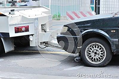 Towing a dumped car