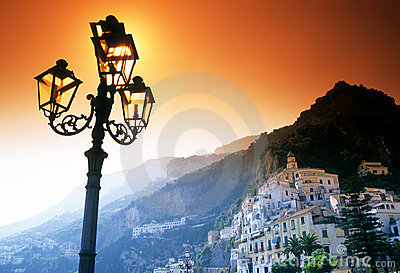 Town along Amalfi Coast