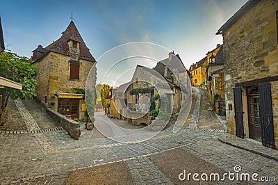 Town av Beynac, Frankrike