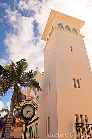 Philipsburg St. Maarten Pictures. TOWN CLOCK OF PHILIPSBURG, ST.