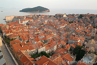 The town of Dubrovnik, Croatia