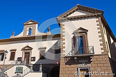 Town Hall Building. Tuscania. Lazio. Italy.