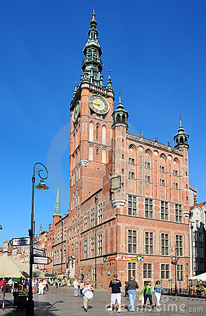 Town Hall in Danzig (Gdansk) Editorial Stock Image