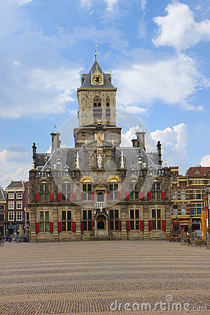Town hall in  Delft, Holland