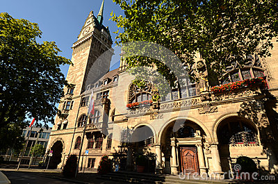 Town Hall in Duisburg Editorial Photo