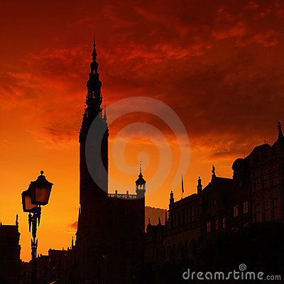 Town Hall in Gdansk, Poland.
