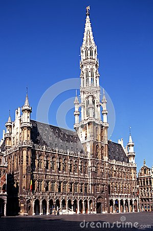 Free Town Hall, Grand Place, Brussels, Belgium. Stock Photo - 25677170