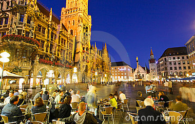 The town hall in the Marienplatz Editorial Stock Photo