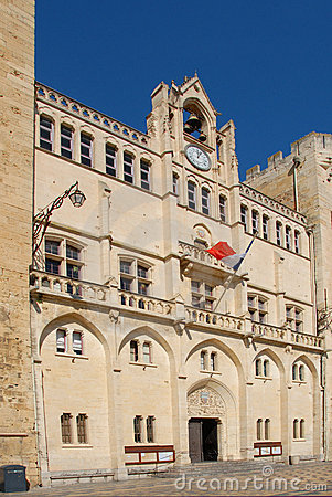 Free Town Hall Of Narbonne Stock Image - 6432611