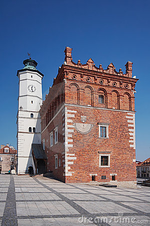 Town hall in Sandomierz,Poland