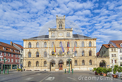 Town hall of Weimar in Thuringia, Germany, UNESCO