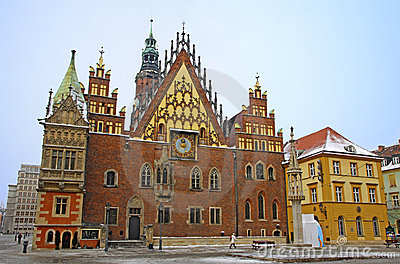 Town Hall in Wroclaw city, Poland
