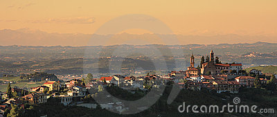 Town On The Hill. Piedmont, Italy. Stock Photo - Image: 22156190