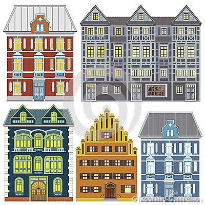 Town houses in Old Europe