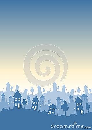 Town houses vertical skyline