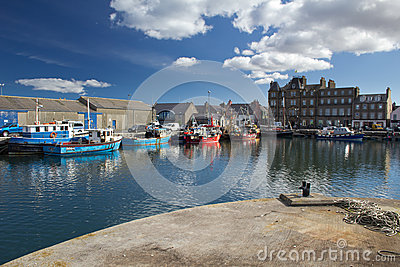 Town of Kirkwall seen from harbour Editorial Stock Photo