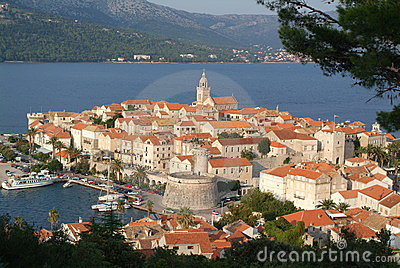 The town of Korcula, Croatia