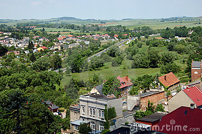 Town landscape in Poland