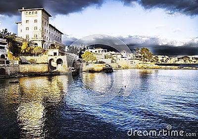 Town on Majorca coast