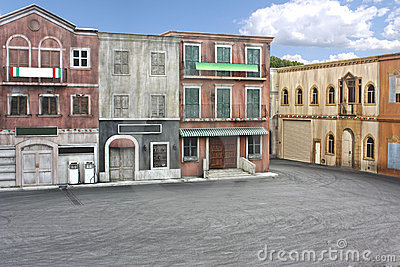 Town movie set