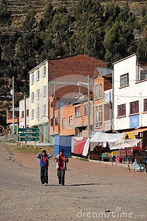 Free Town Of San Pablo On Lake Titicaca Royalty Free Stock Photography - 51456837