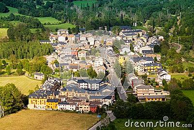 Town in  Pyrenees. Castejon de Sos