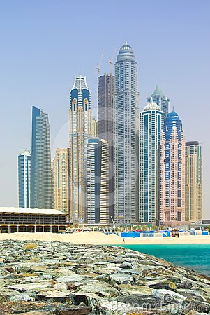 Free Town Scape In Dubai Royalty Free Stock Images - 24514699