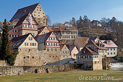 The town of Schwaebisch Hall, Germany