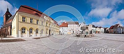Town square panorama Editorial Stock Image