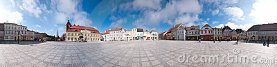 Town square panorama Editorial Stock Image