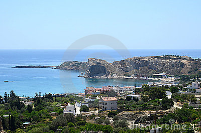 The town of Stegna in Rhodes, Greece