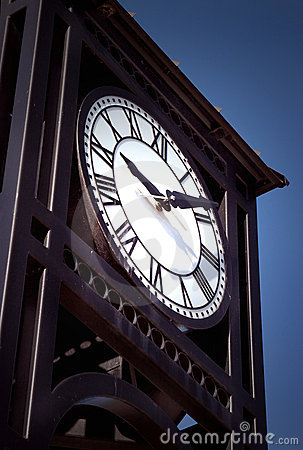 Free Town Tower Clock Royalty Free Stock Photos - 3055778