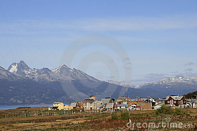 The town of Ushuaia, Argentina