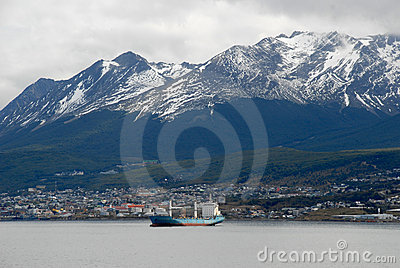 Town Ushuaia,  Argentina, South America.