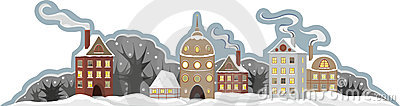 Town Winter Isolated