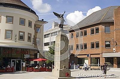 Townfyrkant som wokar, Surrey Redaktionell Arkivbild