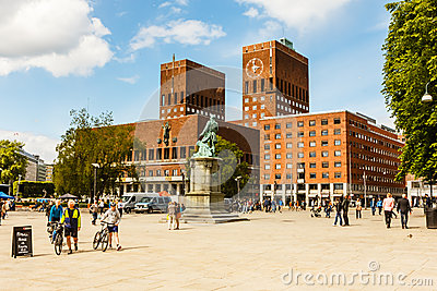 Townhall of Oslo. Editorial Stock Image