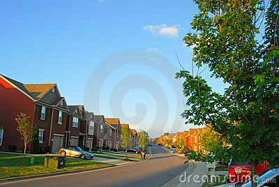 Townhomes in suburbia