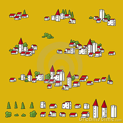Towns for maps (vector)