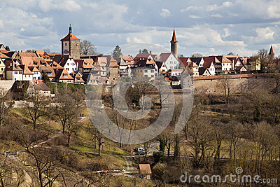Townscape of Rothenburg ob der Tauber