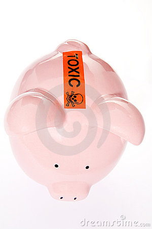 Toxic Debt Concept