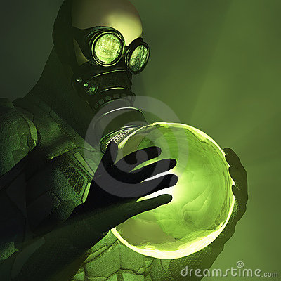 Free Toxic Energy In Human Hands Stock Image - 16816051