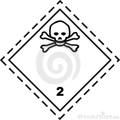 Toxic gas - Safety placard